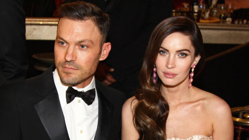 Actors Brian Austin Green, left, and Megan Fox attend the 70th Annual Golden Globe Awards at the Beverly Hilton Hotel on Sunday Jan. 13, 2013, in Beverly Hills, Calif. (Photo by Matt Sayles/Invision/AP)