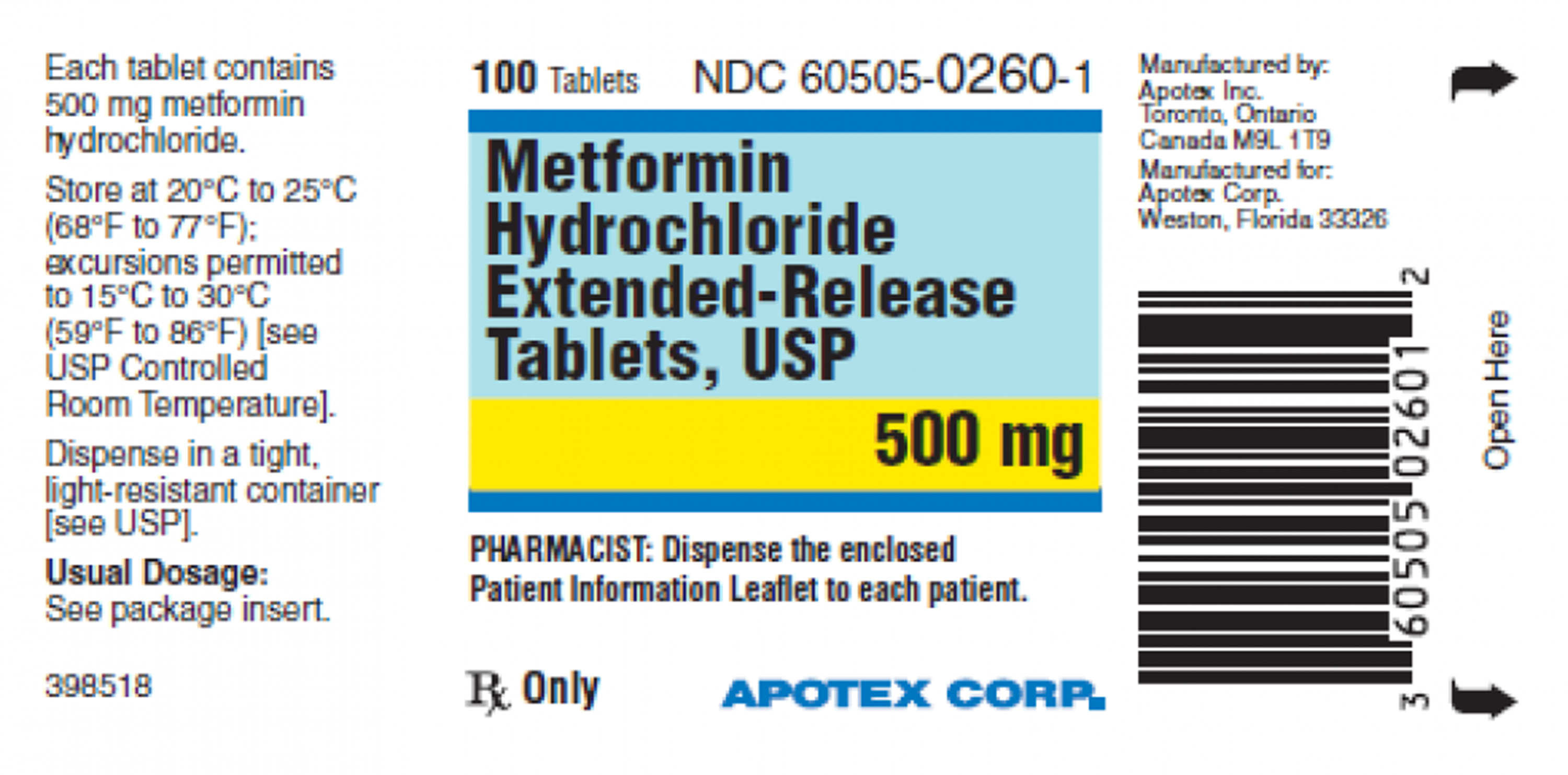 This image made available by the US Food and Drug Administration on Thursday, May 28, 2020 shows a label for the drug metformin. US health regulators are telling five drugmakers to recall versions of the widely used diabetes medication after testing revealed elevated levels of a contaminant linked to cancer in several lots. Photo: AP