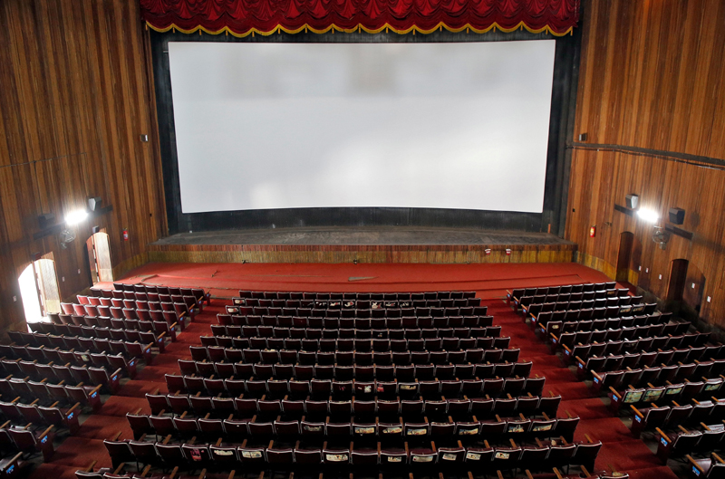 A view of an empty movie theatre after Kerala state government ordered the closure of theatres across the state till March 16, amid coronavirus fears, in Kochi, India, March 11, 2020. Photo: Reuters/File