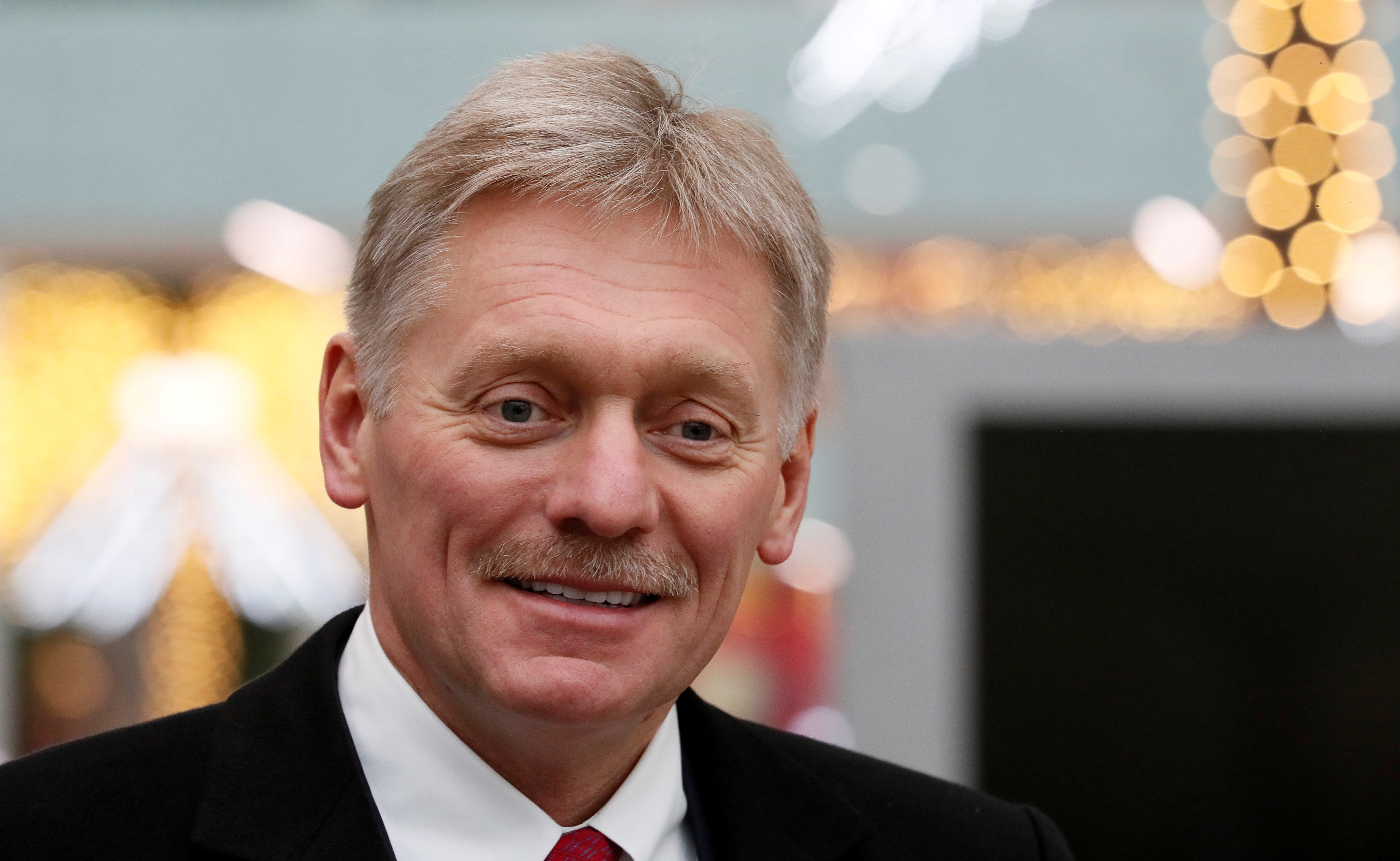 Kremlin spokesman Dmitry Peskov visits the Dream Island amusement park ahead of its upcoming inauguration in Moscow, Russia February 27, 2020. Photo: Reuters