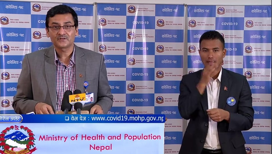 A screenshot of Health Ministry's regular COVID-19 media briefing, as on Friday, May 22, 2020.