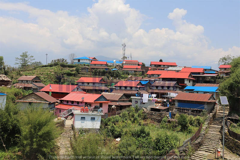 A view of Ghalegaun village in Lamjung district. Photo: Ramji Rana/THT