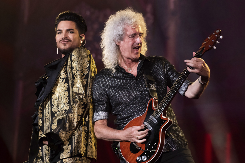 Adam Lambert, left, and Brian May, of Queen, perform at the Global Citizen Festival in New York, Sept. 28, 2019.  Photo: AP/File