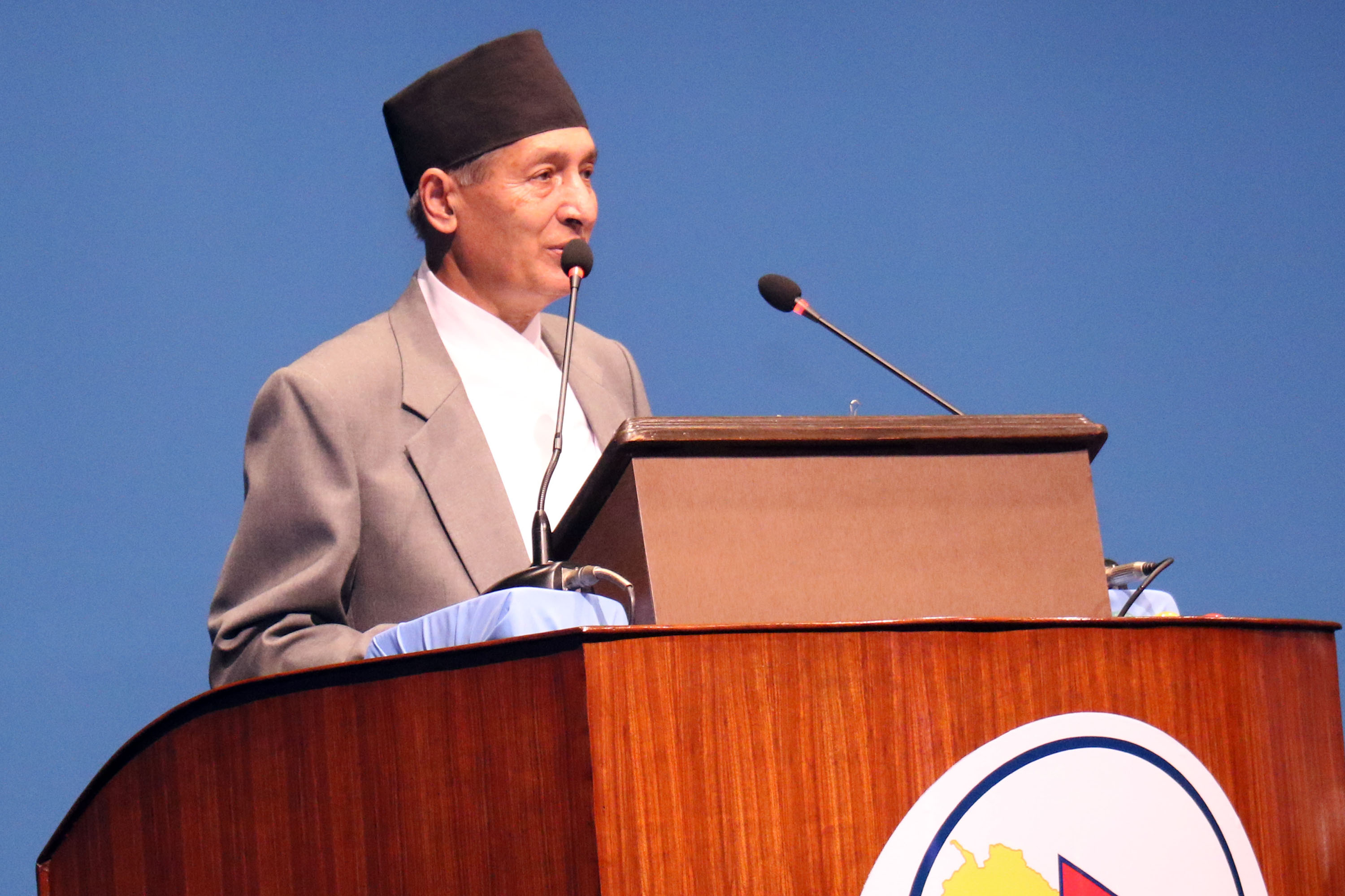 Finance Minister Yubaraj Khatiwada presents a budget of Rs 1,474.64 billion for the Fiscal Year 2020/2021 in the joint session of the House of Representatives and National Assembly, in Kathmandu, on Thursday, May 28, 2020. Photo: RSS