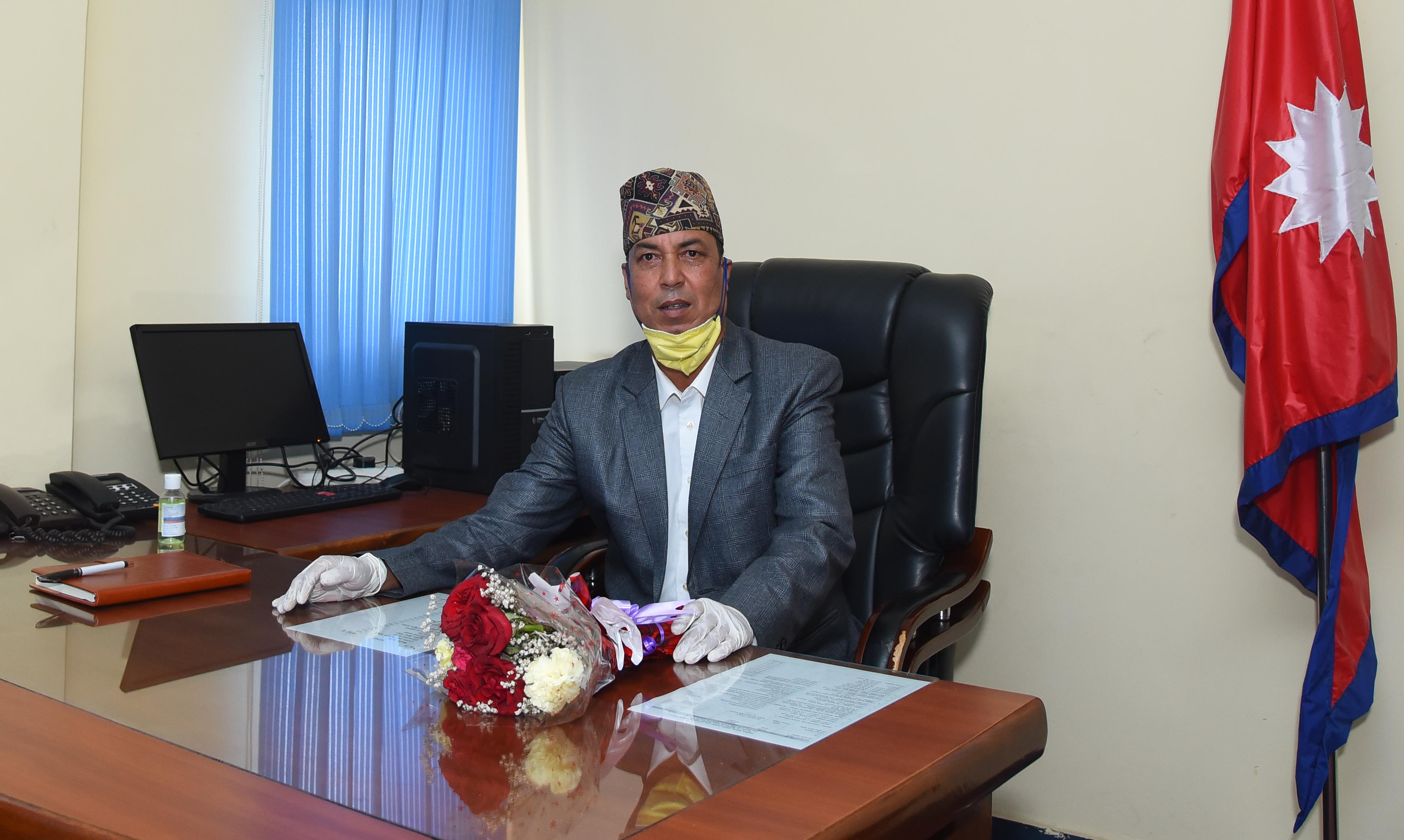 Chairperson Dayaram Dahal of Film Development Board Nepal. Photo Courtesy: Film Development Board Nepal