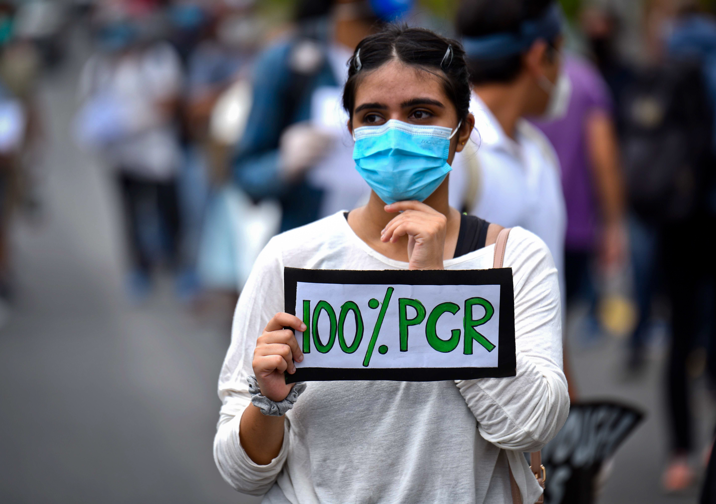People took to the streets protesting government's ineffective handling of the coronavirus pandemic, in Kathmandu, on Tuesday, June 9, 2020. Photo: Naresh Shrestha/THT