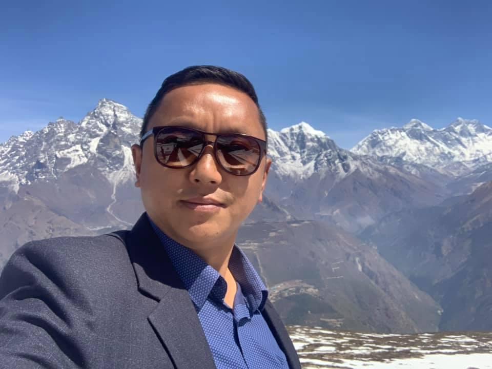 Chairman of Khumbu Pasang Lhamu Rural Municipality Nim Dorje Sherpa. Courtesy: Sherpa's Facebook