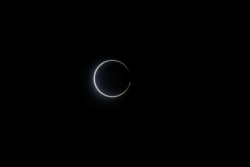 Ring of fire is seen during the solar eclipse at Budai township, Chiayi county, Taiwan, June 21, 2020. Photo: Reuters