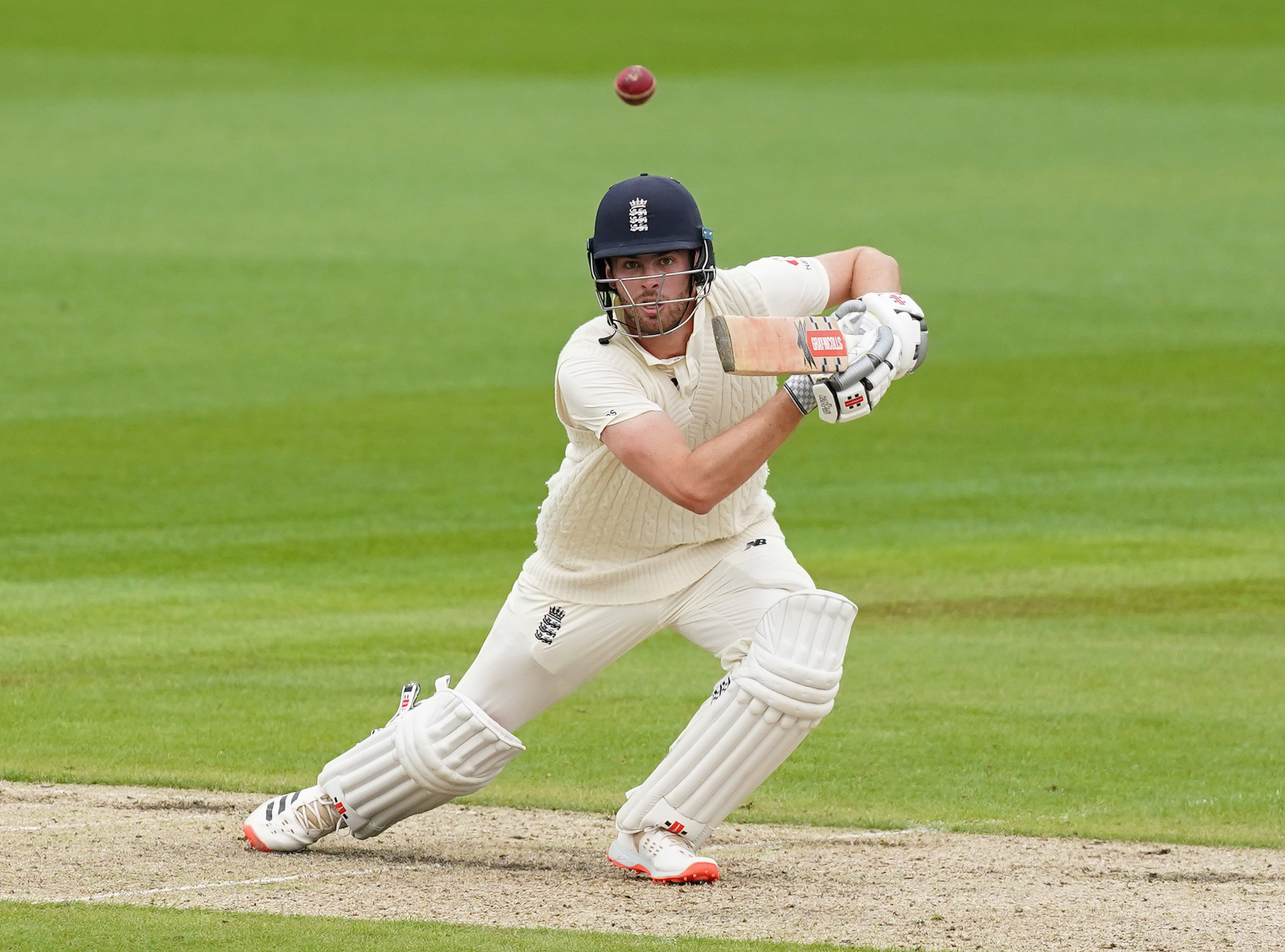 England's Dom Sibley in action. Photo: Reuters