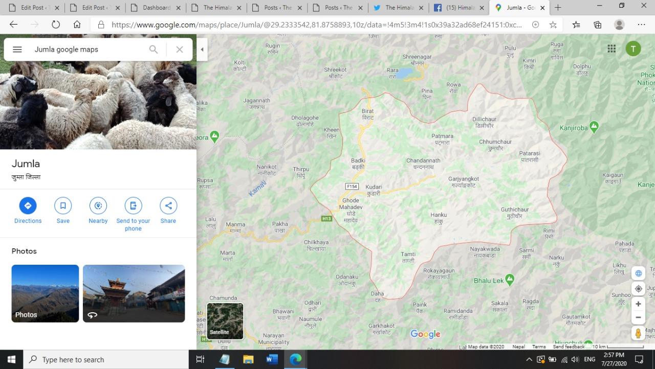 Jumla district. Image: Google Maps
