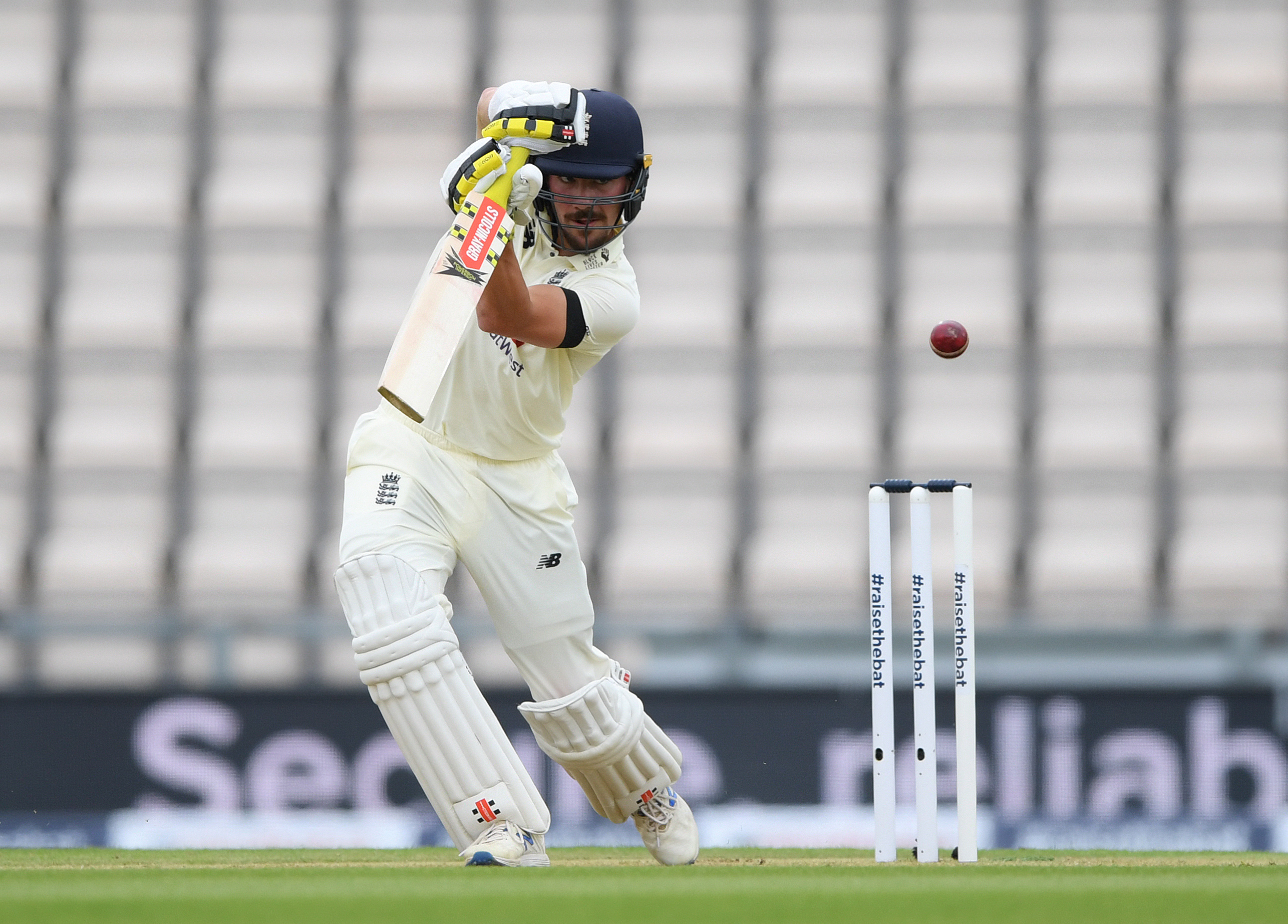 England's Rory Burns in action, as play resumes behind closed doors following the outbreak of the coronavirus disease (COVID-19). Photo: Reuters