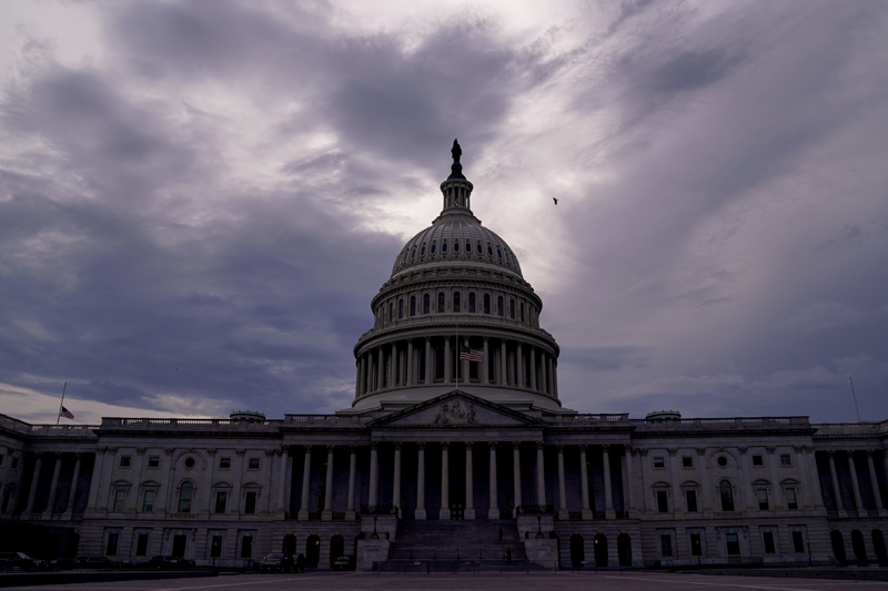 The U.S. Capitol is seen under storm clouds in Washington, U.S. July 23, 2020. Photo: Reuters