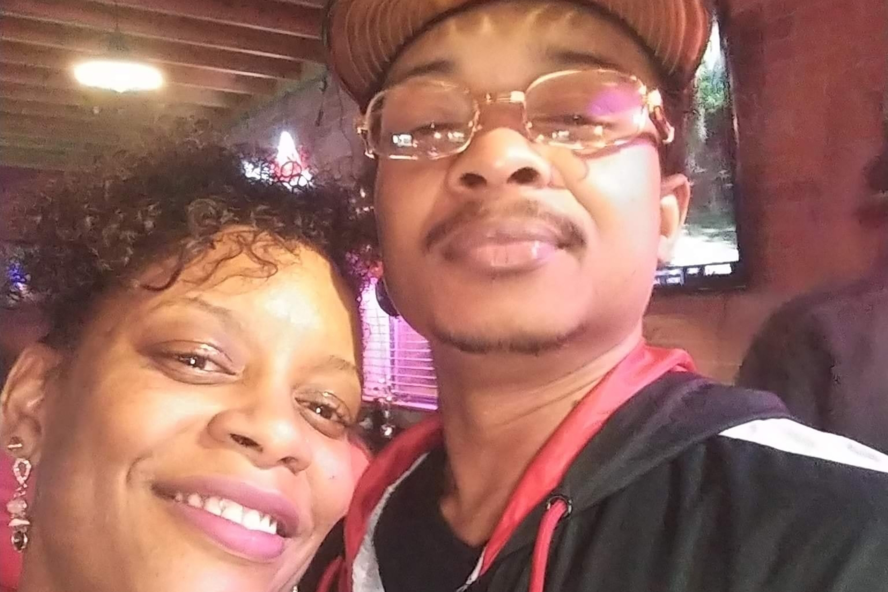 In this September 2019 selfie photo taken in Evanston, Ill., Adria-Joi Watkins poses with her second cousin Jacob Blake. He is recovering from being shot multiple times by Kenosha police on Aug. 23. Photo: AP