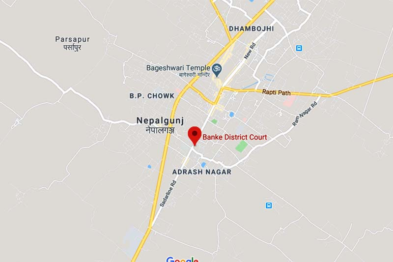 This image shows the location of Banke District Court. Image: Google Maps