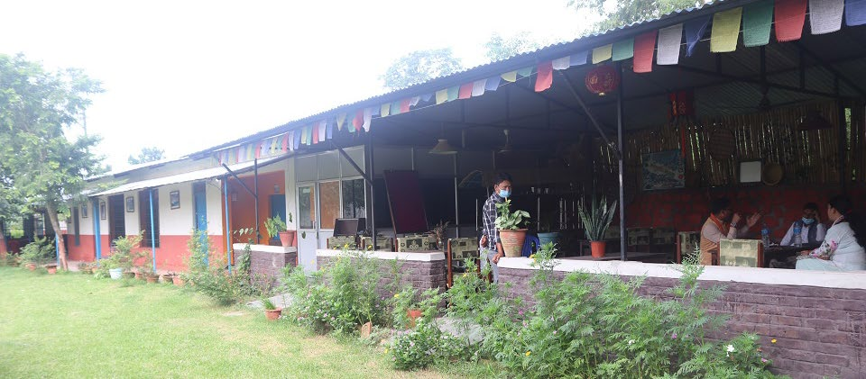 A view of the female isolation centre established by Dhangadi sub-metropolis, in Dhangadi, on Thursday. Photo: THT
