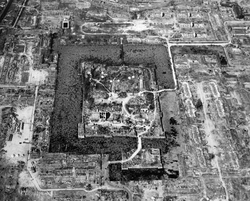 This Aug. 6, 1945, file photo released by the U.S. Air Force shows the total destruction of Hiroshima, western Japan, as the result of the first atomic bomb dropped. Photo: U.S. Air Force via AP/File