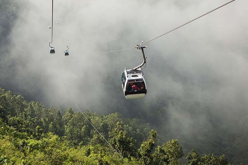 This undated image shows cable cars. Photo courtesy: MCC