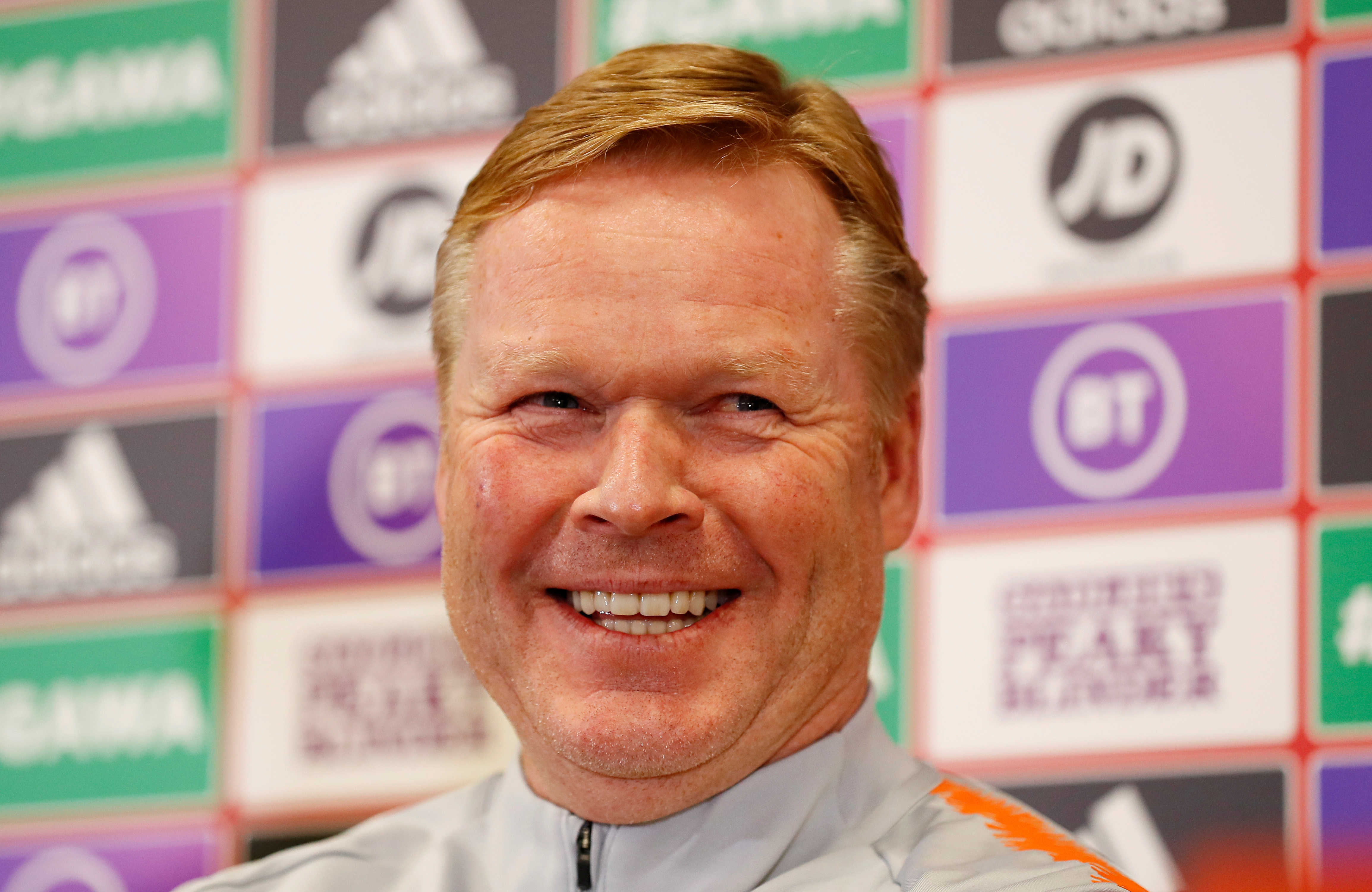Netherlands coach Ronald Koeman during the press conference. Photo: Reuters
