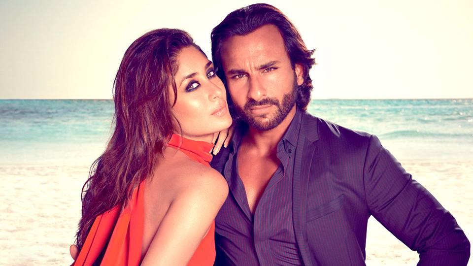 File: Bollywood actor Saif Ali Khan and his wife Kareena Kapoor.