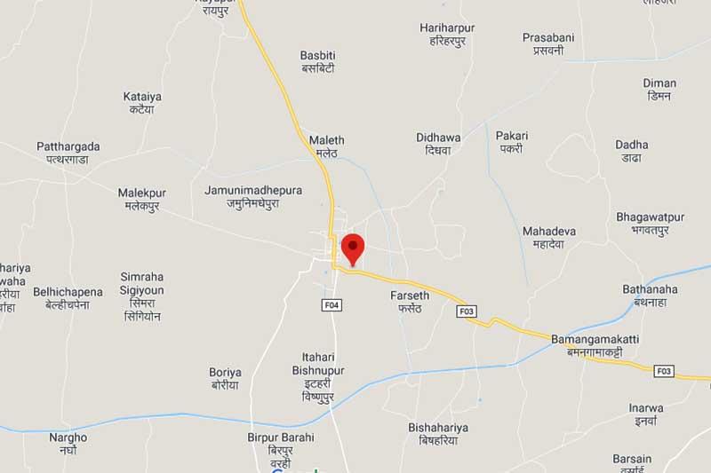 This image shows the location of Saikrishna Medical College, Rajbiraj, in Saptari district. Image: Google Maps