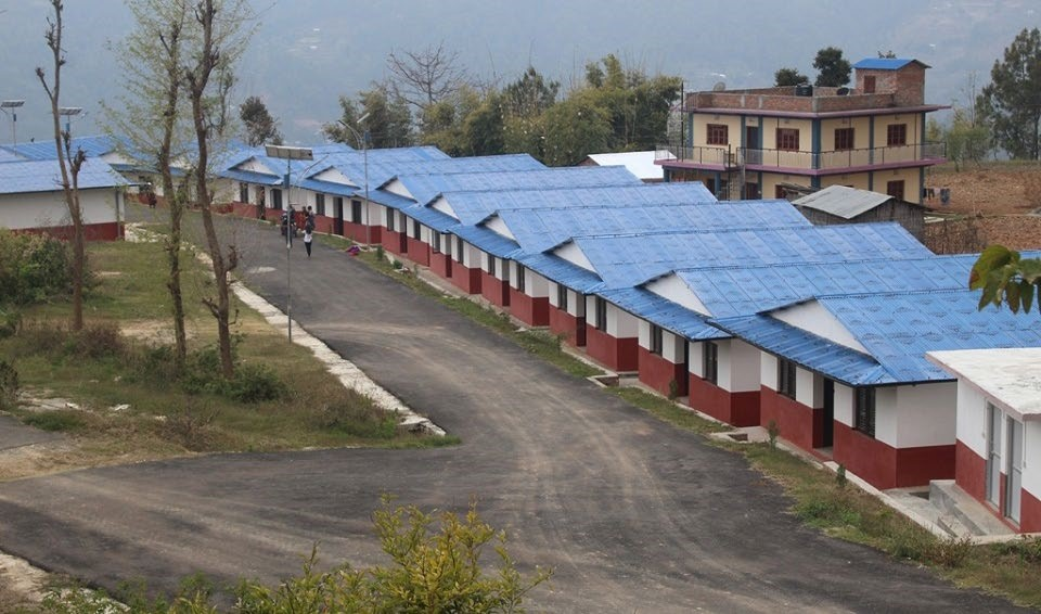 A view of an isolation centre established at Audyogikgram in Dhankuta Municipality, Dhankuta, on Sunday. Coronavirus cases have been increasing in the district of late. Photo: THT
