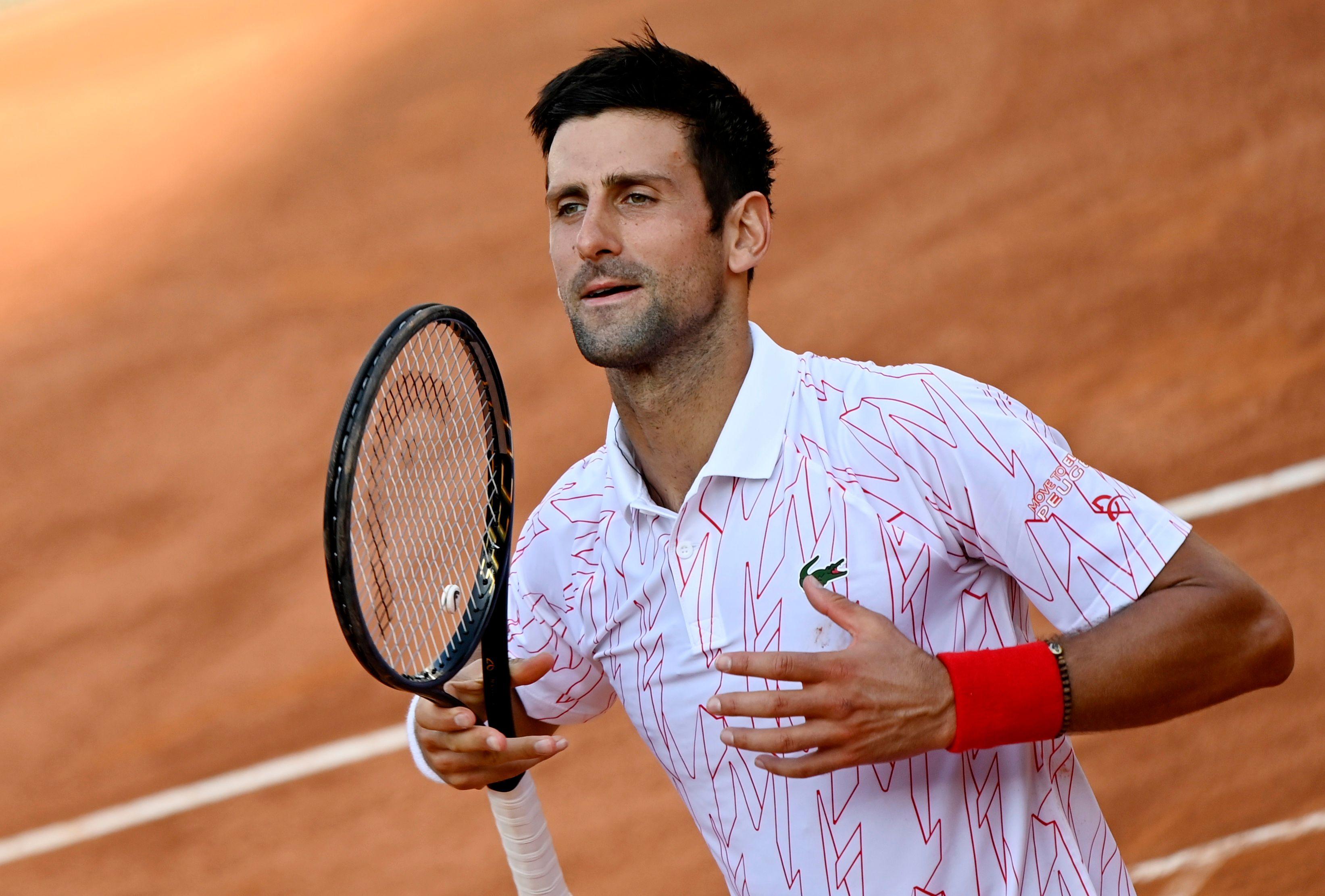 Serbia's Novak Djokovic celebrates after winning his semi final match against Norway's Casper Ruud. Photo: Reuters