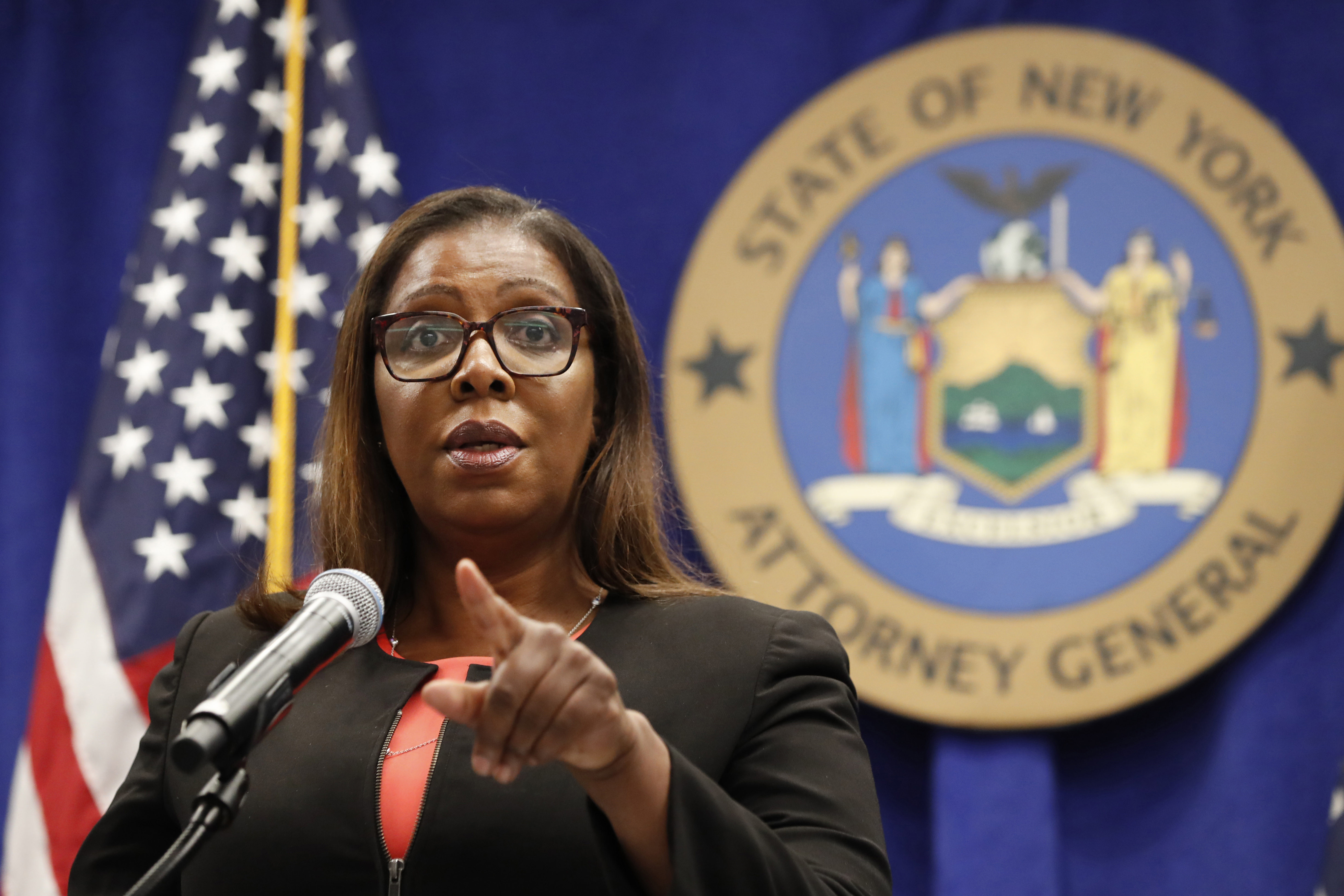 FILE- In this Aug. 6, 2020 file photo, New York State Attorney General Letitia James takes a question at a news conference in New York. James said on Saturday, Sept. 5, 2020 that she will impanel a grand jury to look into the death of Daniel Prude. Prude, 41, apparently stopped breathing as police in Rochester, N.Y. were restraining him in March 2020 and died when he was taken off life support a week later. Photo: AP