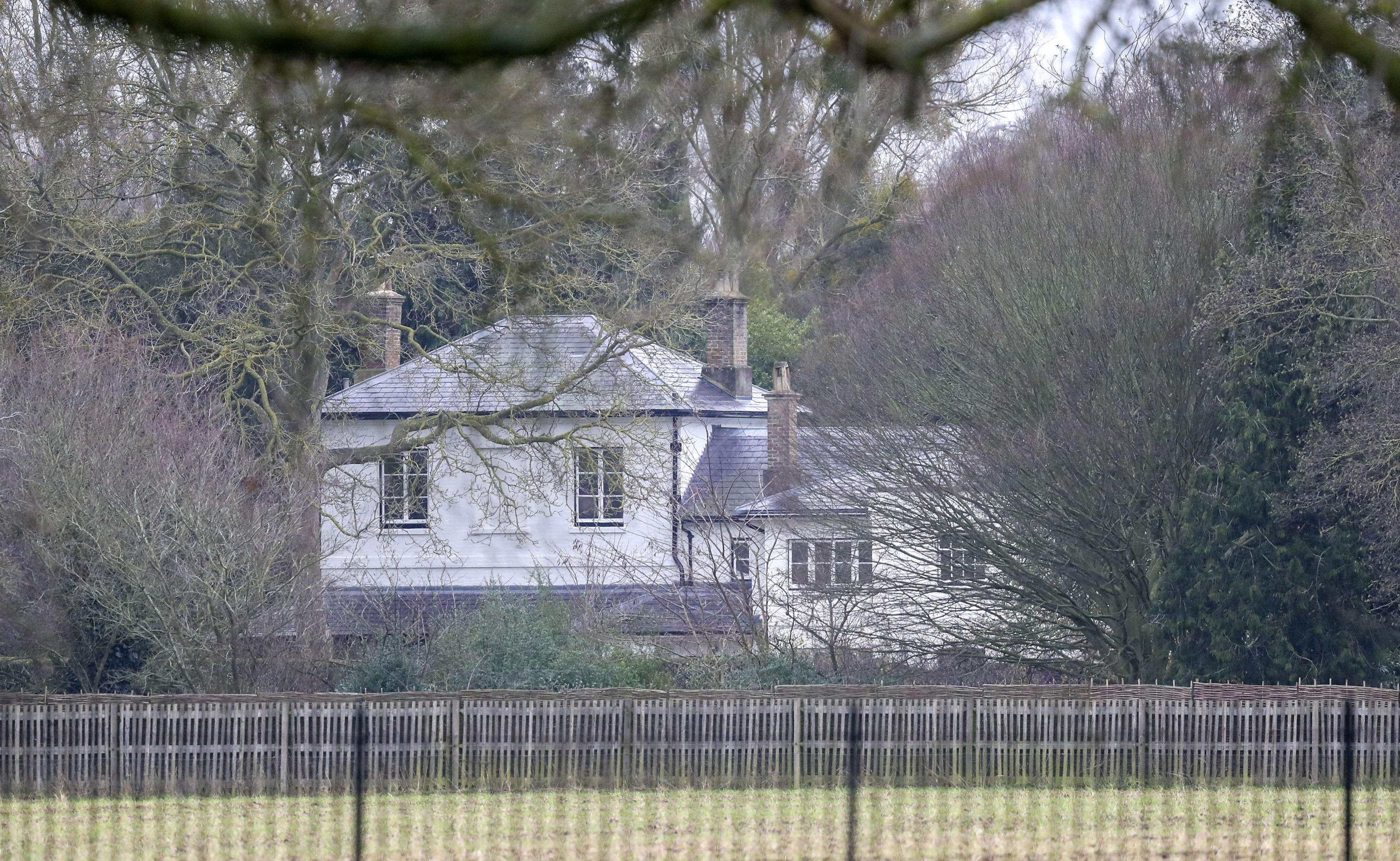FILE - In this Jan. 14, 2020 file photo, a general view of Frogmore Cottage on the Home Park Estate, Windsor. Prince Harry has repaid 2.4 million pounds ($3.2 million) in British taxpayersu2019 money that was used to renovate the home intended for him and his wife Meghan before they gave up royal duties. A spokesman on Monday, Sept. 7, 2020 Harry has made a contribution to the Sovereign Grant, the public money that goes to the royal family. Photo: AP