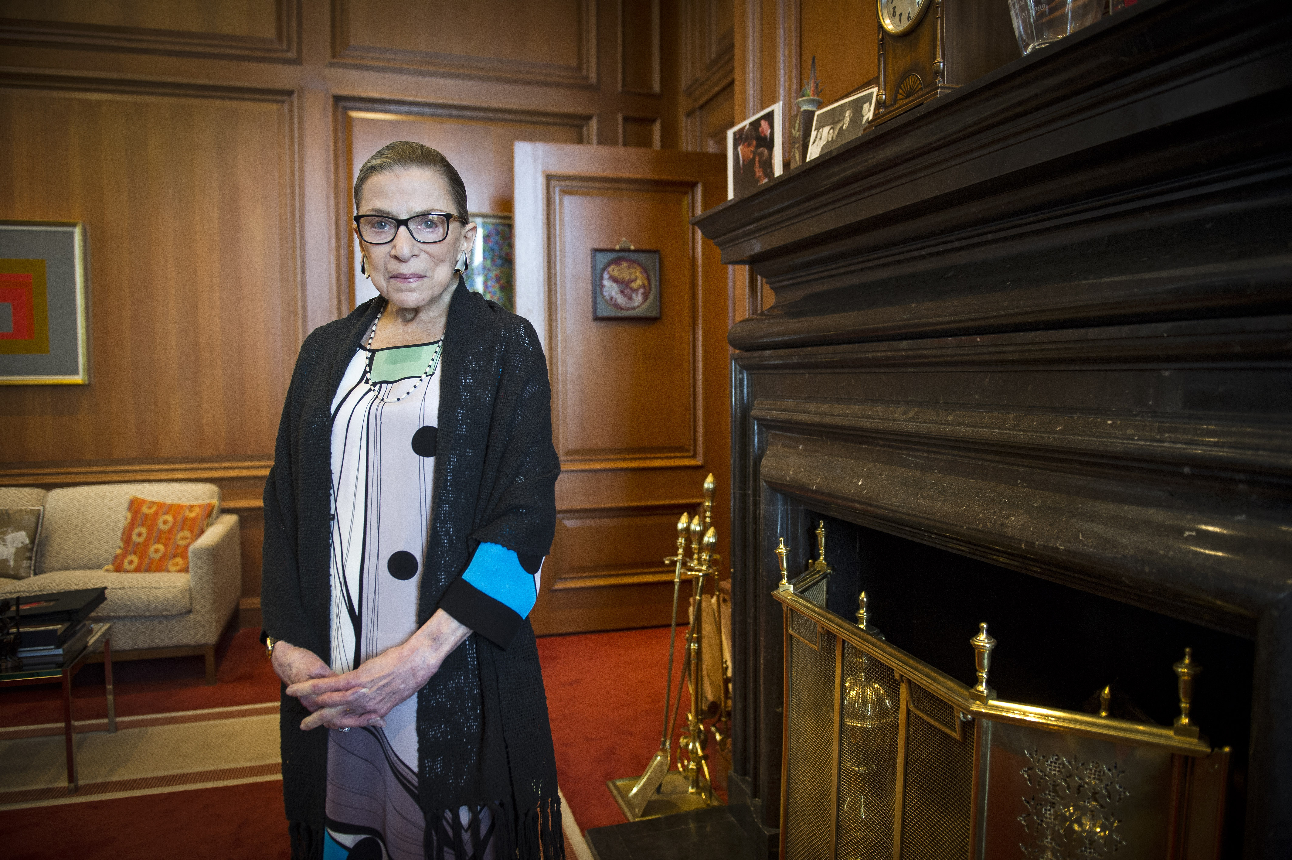 FILE - In this July 31, 2014, file photo, Associate Justice Ruth Bader Ginsburg is seen in her chambers in at the Supreme Court in Washington. The Supreme Court says Ginsburg has died of metastatic pancreatic cancer at age 87. Photo: AP
