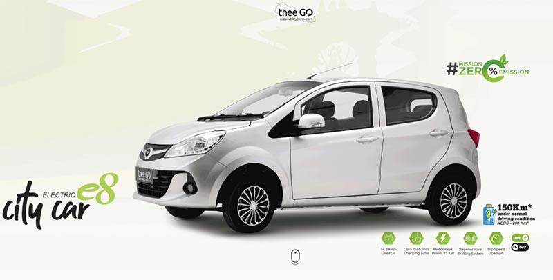 This  image shows the electric city car u2018thee GO e8u2019. Image: thee-go.com