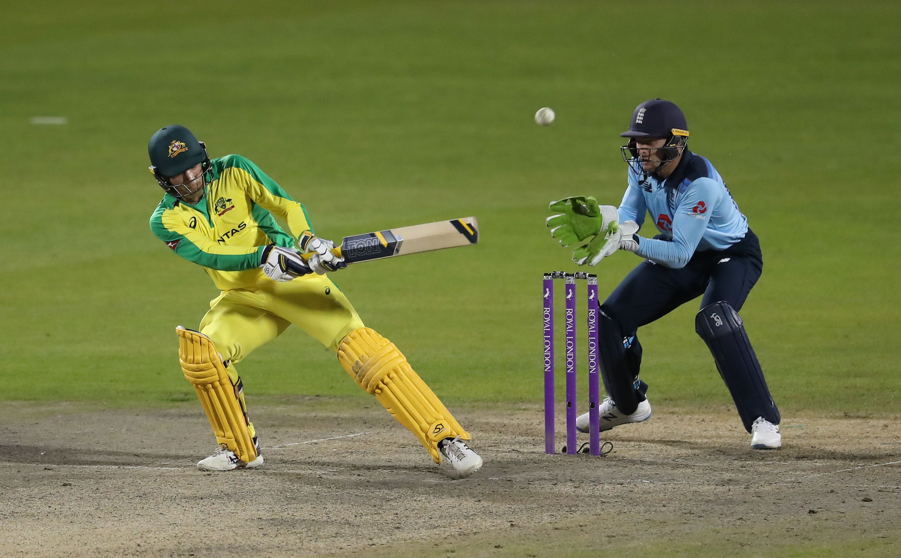 Australia's Alex Carey in action. Photo: Reuters