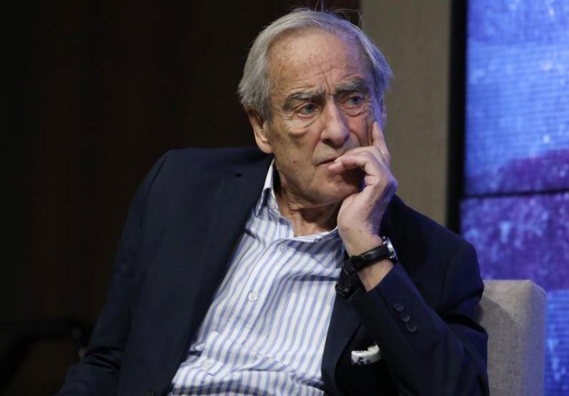 FILE PHOTO: Reuters Editor-at-Large Sir Harold Evans speaks at a Reuters Newsmaker event in New York, September 9, 2019. Photo: Reuters