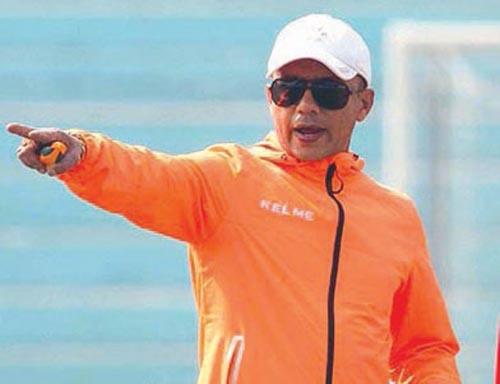 This undated image shows former national football team skipper Hari Khadka. Photo: THT