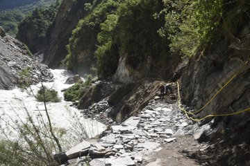 Ghantibagar-Chhangru track. Photo Courtesy: Nepali Army/twitter