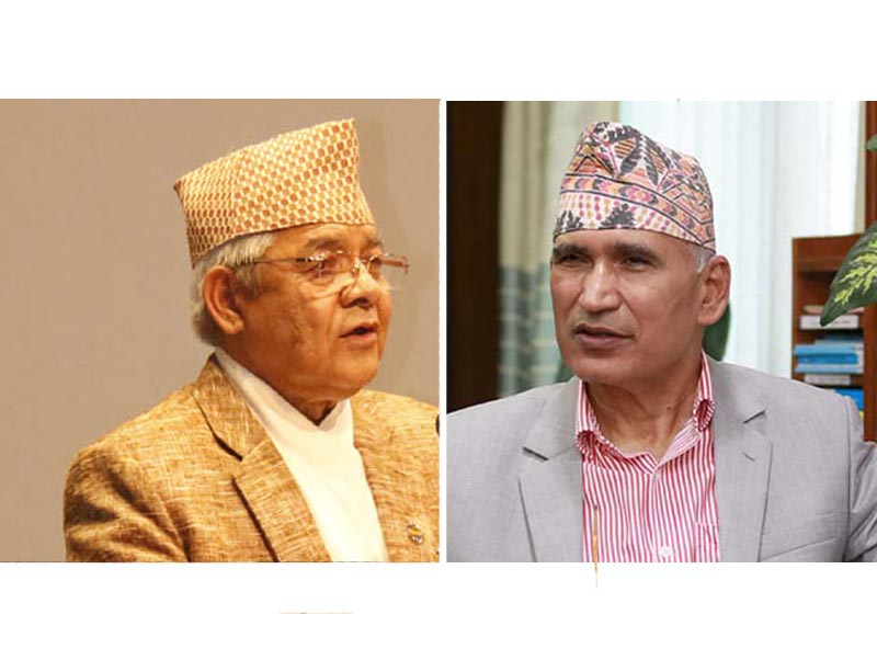 This combo image shows Nepal Communist Party (NCP) Bamdev Gautam (left) and Finance Minister and the party's General Secretary Bishnu Prasad Paudel. Photo: THT