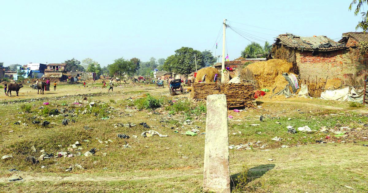 A view of the human settlement in Dasgaja area, Banke, on Sunday. Photo: THT