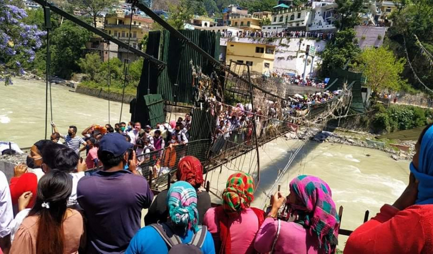 File - The suspension bridge that is the only means of movement between Nepal and India in Darchula. Photo: Tekendra Deuba/THT
