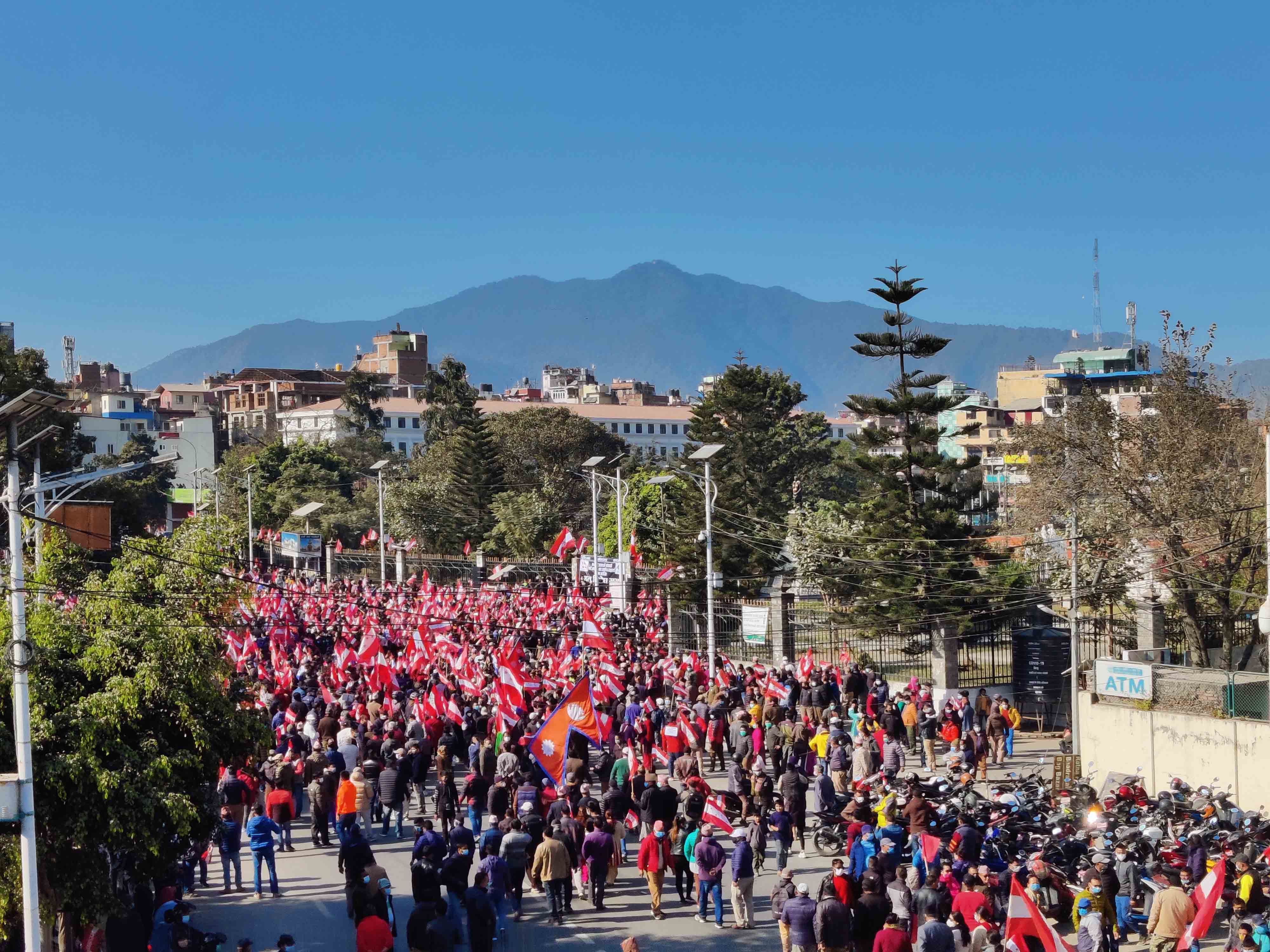 NC protests in Kathmandu. Photo: Bal Krishna Thapa