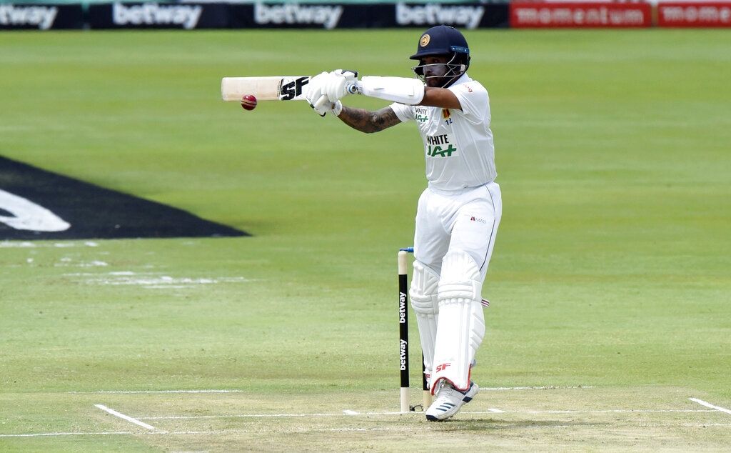 Sri Lanka's Kusal Perera plays a shot, on day one of the first cricket test match between South Africa and Sri Lanka at Super Sport Park Stadium in Pretoria, South Africa, Saturday, December 26, 2020. Photo: AP