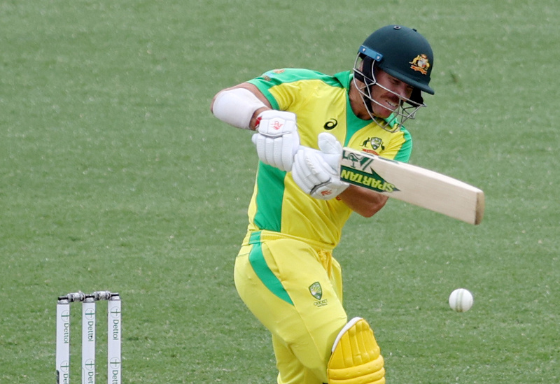 Australia's David Warner in action  during the Second One Day International match between Australia and India, at  Sydney Cricket Ground, in Sydney, Australia, on November 29, 2020. Photo: Reuters / File