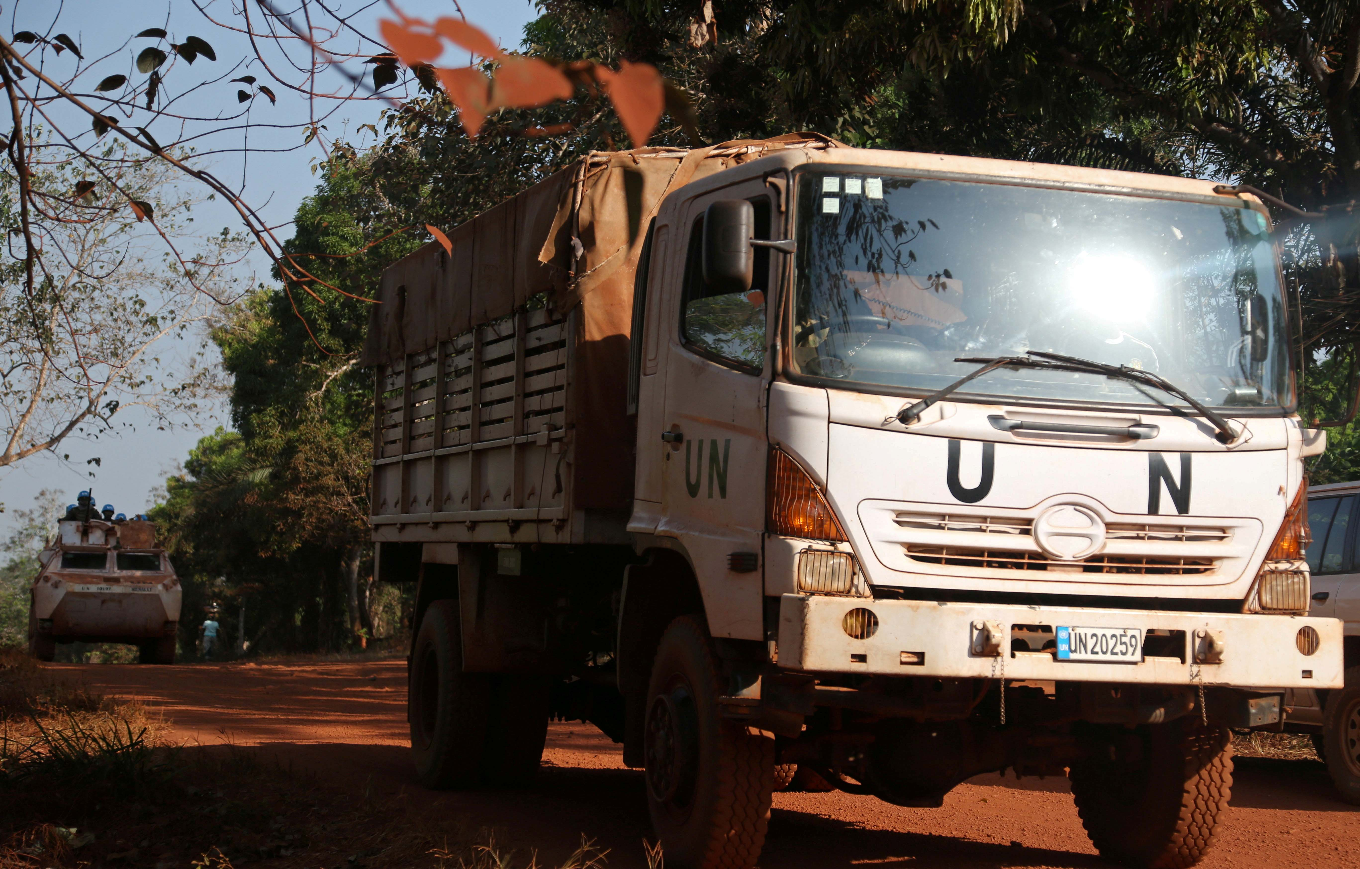 United Nations Multidimensional Integrated Stabilization Mission in the Central African Republic (MINUSCA) transports electoral materials ahead of the upcoming elections in Yongofongo, Central African Republic, on December 17, 2020. Photo: Reuters