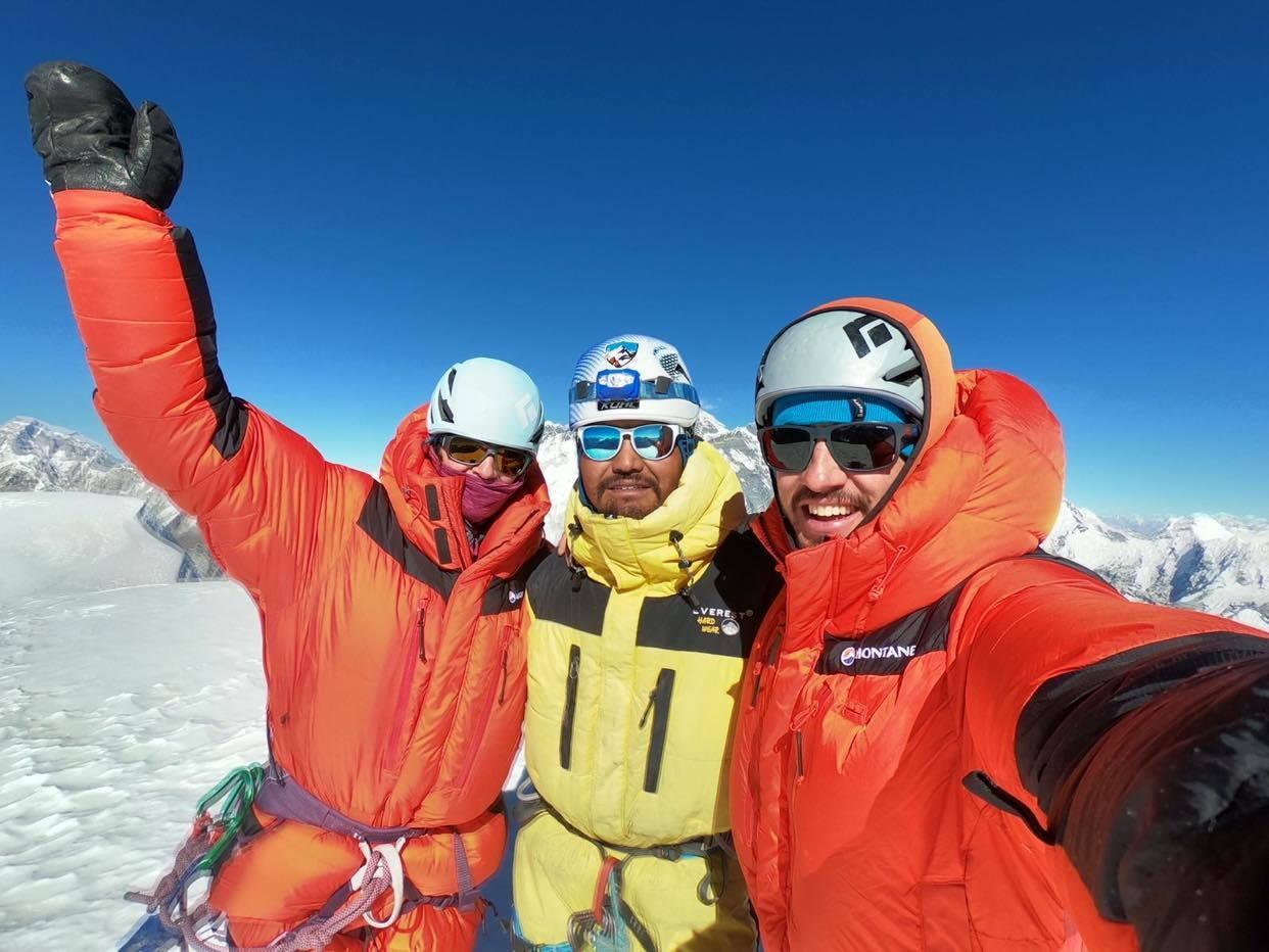 British climber Jon Gupta along with his team on Mt Amadablam. Photo Courtesy: Jon Gupta
