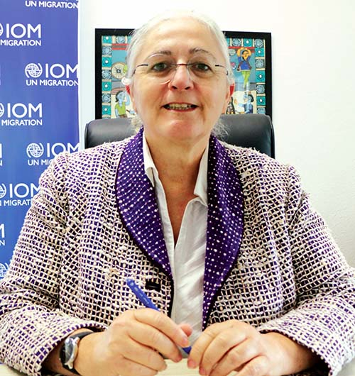 This undated image shows International Organisation for Migrationu2019s Chief of Mission for Nepal Lorena Lando. Photo coourtesy: IOM
