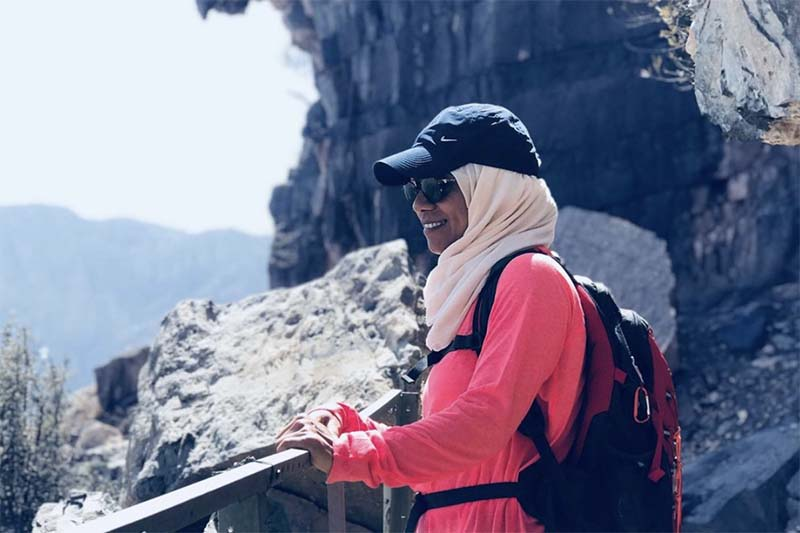 This undated image shows Nadhira Al Harthy, the first female from Oman to climb Mt Everest. Photo courtesy: Seven Summit Treks