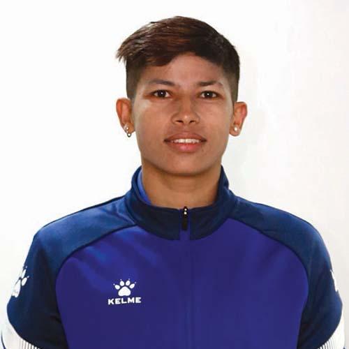 This undated image shows Nepali footballer Sabitra Bhandari. Photo: THT