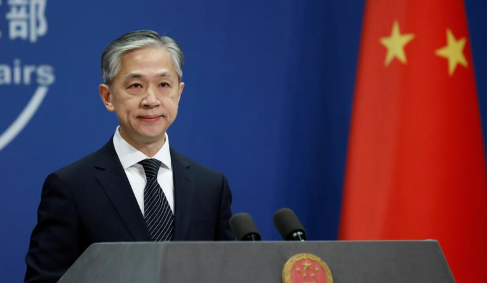 Chinese Foreign Ministry spokesman Wang Wenbin attends a news conference in Beijing, China November 9, 2020.  Photo: Reuters