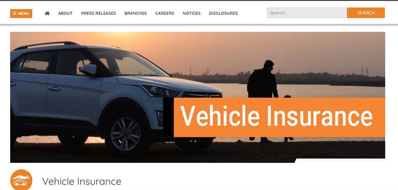 This screenshot of Shikhar Insurance Company Ltd's website shows vehicle insurance. Image: shikharinsurance.com/products/vehicle-insurance