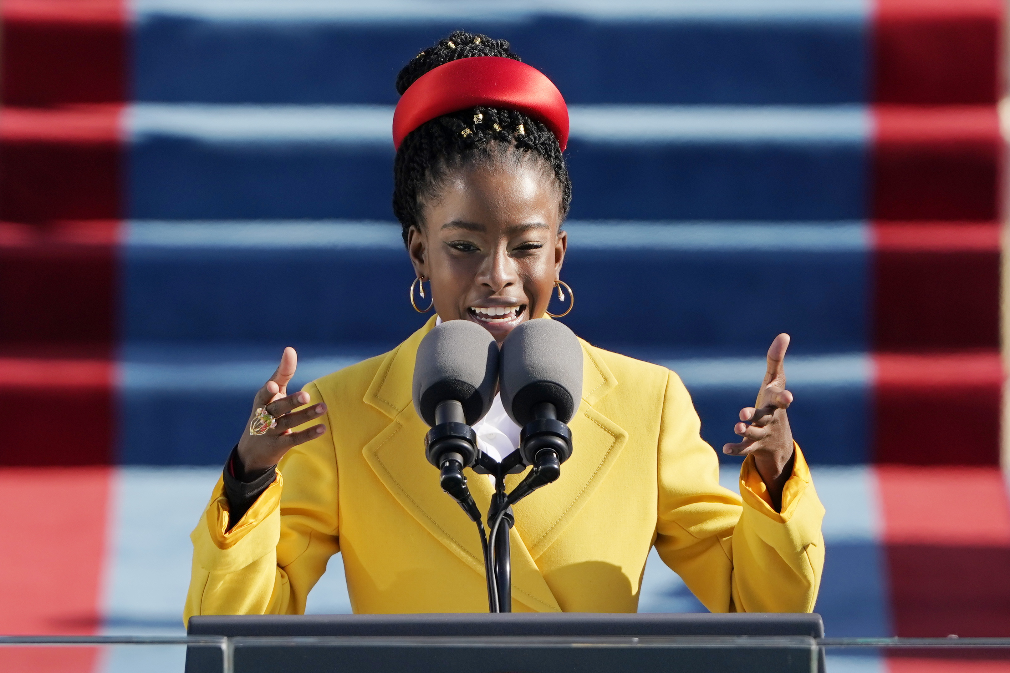 American poet Amanda Gorman reads a poem during the 59th Presidential Inauguration at the U.S. Capitol in Washington, Wednesday, Jan. 20, 2021. Photo: AP