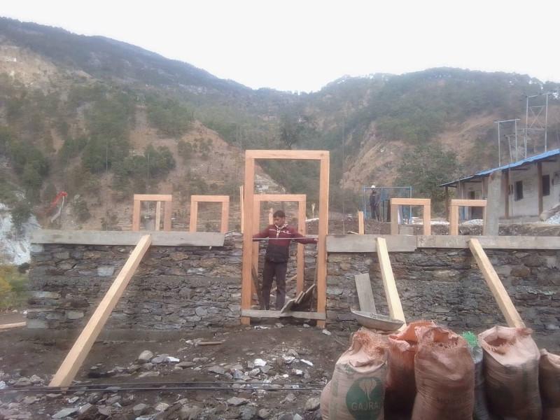 A female friendly toilet being constructed in Nepal Rastriya Secondary School, at Jadanga of Badimalika Municipality, as pictured on Wednesday, January 6, 2021. Photo: Prakash Singh/THT