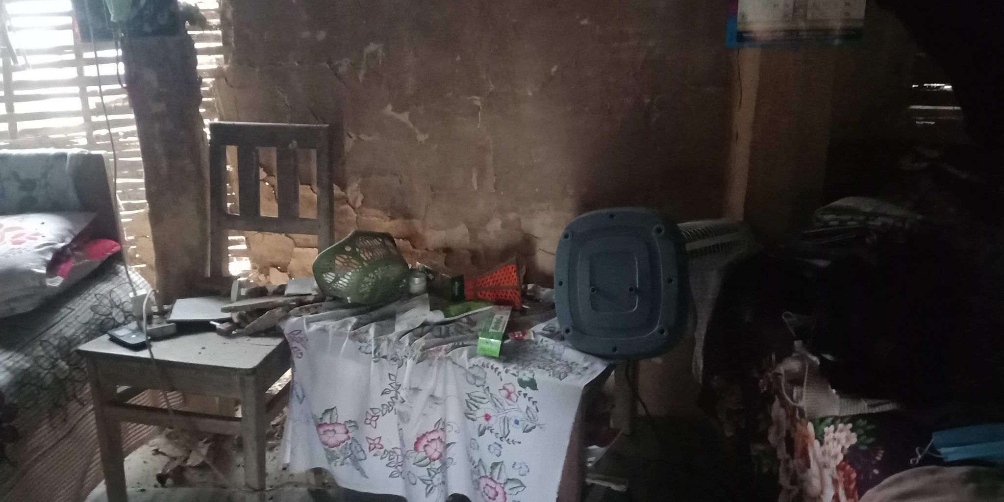 The interiors of house is pictured after an elephant walked into a settlement, in Dharmapur, Golbazaar Municipality-10, Sirhaha, as on Tuesday, January 19, 2021. Photo: Aashish BK